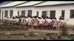 School, Kenya, Africa, 1970 (vintage 8mm film) Stock Footage