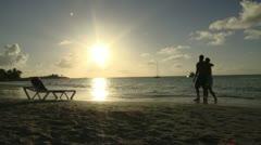 Antigua Sunset Stock Footage