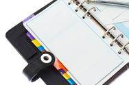 Personal organizer and credit cards with pen Stock Photos