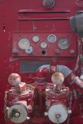 Fire engine controls Stock Photos