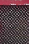 red metal grate pattern - stock photo