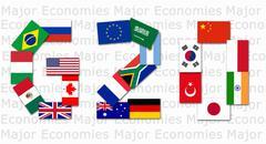 g20 major economies - stock photo
