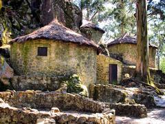 proto-historic settlement in esposende - stock photo