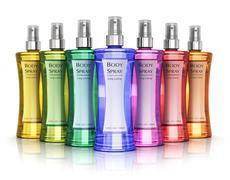 Set of perfumes - stock photo