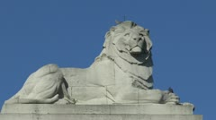 Lion on top of the Menin Gate, Ieper, Belgium Stock Footage