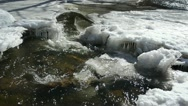 Stock Video Footage of creek cataract ice winter