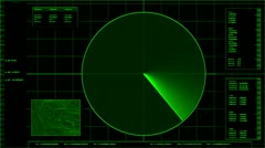Radar screen loop - stock footage