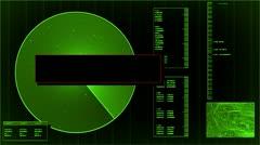 Radar screen loop Stock Footage