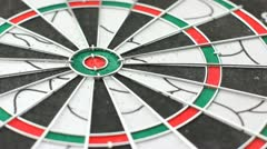 Darts game with dartboard - stock footage