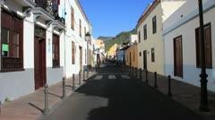 San Sebastian de la Gomera. Street view. 15.04.13 Stock Footage