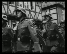 World War 2 - Soldiers March Stock Footage