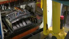 Sheet Metal Vehicle Part Being Stamped Industrial Automated Factory Automation - stock footage