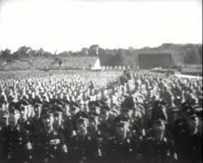 World War 2 - German Parade Stock Footage
