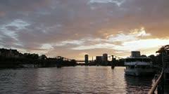 Frankfurt River Main Stock Footage