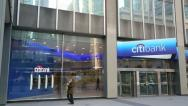 Stock Video Footage of Citibank headquarter tilt down