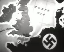 World War 2 - Map Annimaton Stock Footage