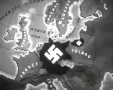 World War 2 - Map Annimaton Stock Footage