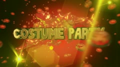 2013 costume party 0104 Stock Footage