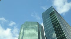 Skyscraper tall corporate office buildings timelapse 25p Stock Footage
