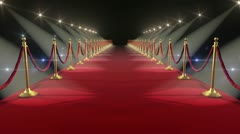 Stock Video Footage of Red Carpet. Looped animation. HD 1080.