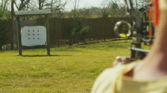 Stock Video Footage of Archery (slow motion) 5