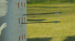 Archery (slow motion) 24 Stock Footage