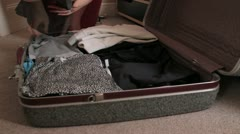Packing for the trip - HD Stock Footage