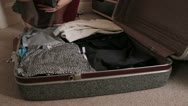 Stock Video Footage of packing for the trip - HD