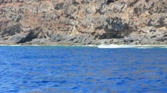 Sailing around one of the Canary Island La Gomera in Spain Stock Footage