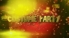 2013 costume party 0102 Stock Footage