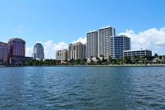 View of luxury condos and hotels Stock Photos