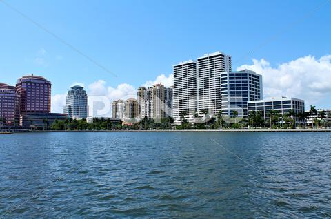 Stock photo of View of luxury condos and hotels