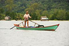 local fisherman, ream national park, cambodia - stock photo