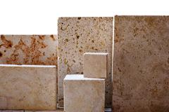 Limestone blocks Stock Photos