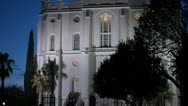 St. George Temple at Night Stock Footage
