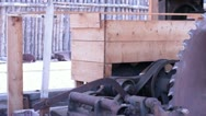 Old Saw Mill Stock Footage