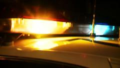 FLASHING SIRENS POLICE LIGHTS PRODUCED SEQUENCE MONTAGE HD 1920X1080 HD VIDEO Stock Footage