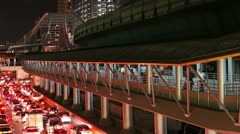 City commuters in Bangkok Stock Footage