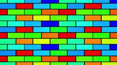 Colorful bricks fun background Stock Footage