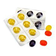 Lozenges cough multicolored Stock Photos