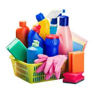 cleaners and cleaning equipment - stock photo