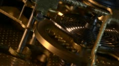 Old Mechanical Watch Mechanism Stock Footage