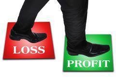 Business man step Stock Photos
