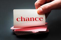 chance card - stock photo