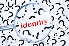 identity word - stock photo