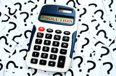 solution result - stock photo