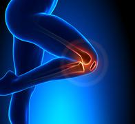 Knee Pain Superior View - stock photo