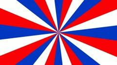 Red, White and Blue Spinning Pinwheel Background - stock footage