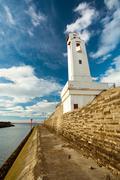 Ciboure lighthouse - stock photo