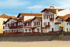 Basque buildings - stock photo